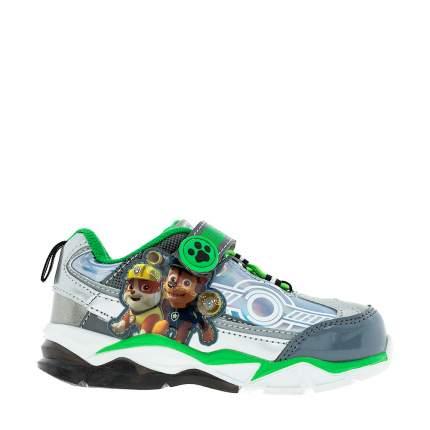 Кроссовки со светящейся подошвой PAW Patrol для мальчика серебристые, р.25
