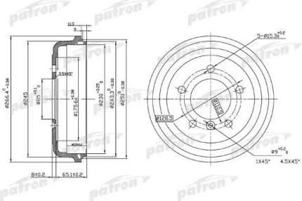 Барабан тормозной PATRON PDR1095