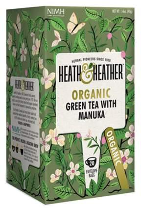 Чай зеленый Heath&Heather с медом манука органик 20 пакетиков
