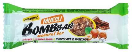 Протеиновый батончик Bombbar 40 г шоколад, фундук