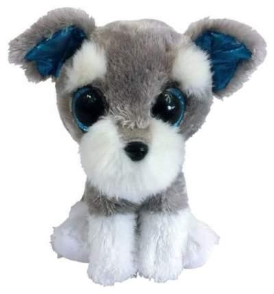 Мягкая игрушка ABtoys Собачка серая, 15 см
