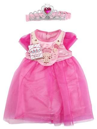 Одежда для кукол 40-42 см Карапуз платье, диадема