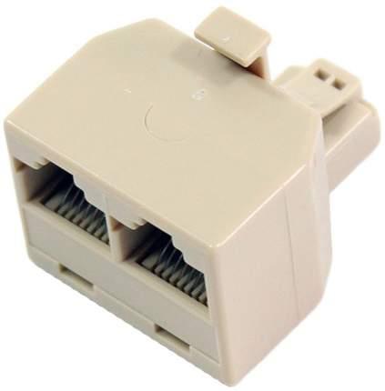 Переходник-разветвитель VCOM VTE7714 Beige RJ-45 8P8C-2-8P8C Jack