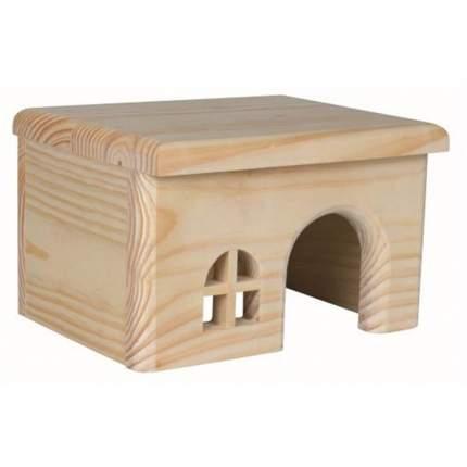 Домик для грызунов TRIXIE с плоской крышей, дерево, бежевый, 15х12х15см