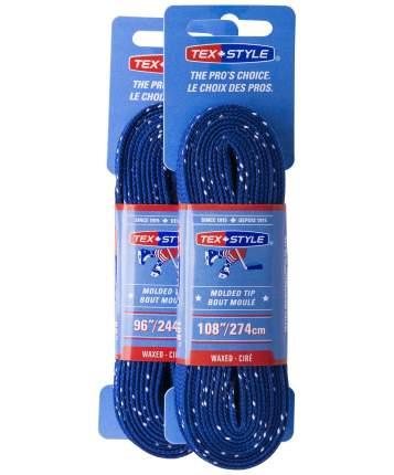 Шнурки для коньков Tex Style W925 синие, 2,74 м