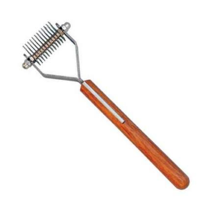 Стриппинг Show Tech Coat King с деревянной ручкой для мягкой шерсти, 12 лезвий