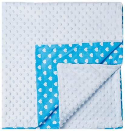 Плед детский двусторонний голубой 90х100смДетская линия