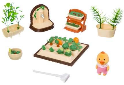 Игровой набор Happy Family с фигуркой зверюшки, огород, 14х10х4,5 см, BOX, арт.012-06B.