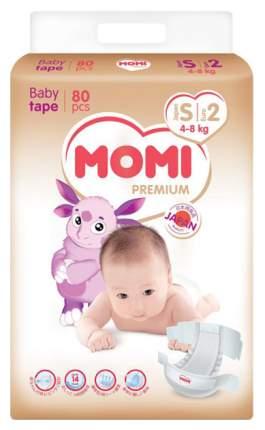 Подгузники Momi Premium 4-8 кг 80 шт