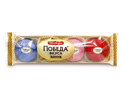 Трюфели шоколадные Победа Вкуса с марципаном 4 вкуса