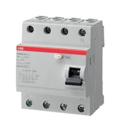 """Выключатель дифференциального тока ABB (УЗО) """"FH204"""", 4P, 63А, 30мА, АС"""