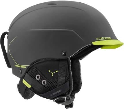 Горнолыжный шлем Cebe Contest Visor 2019, черный, L