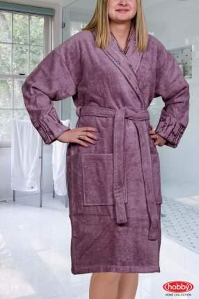 Банный халат HOBBY home collection Eliza темно-фиолетовый M