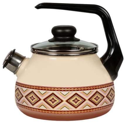 Чайник для плиты СТАЛЬЭМАЛЬ 4с209я
