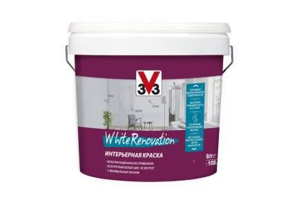 Краска V33 для стен и потолков WHITE RENOVATION 9 л Латексная
