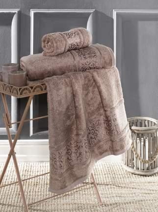 Банное полотенце KARNA ARMOND коричневый 90x150 см (1 шт.)