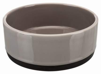 Миска для домашних животных TRIXIE, керамическая, на резинке, серая, 12 см, 400 мл