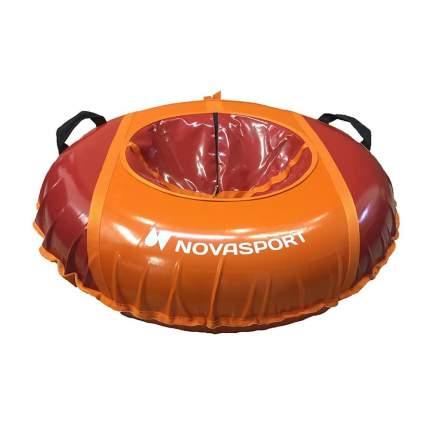 Тюбинг NovaSport 125 см усиленный без камеры СН050.125 красный/красный оранжевый