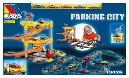 Паркинг с треком и 5 машинками (3 уровня)