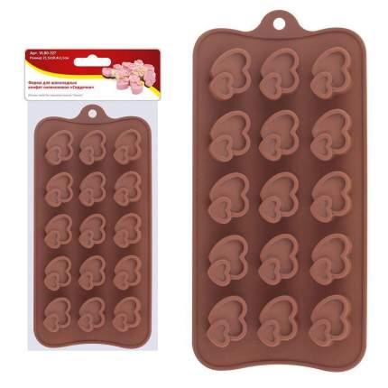 """Форма для шоколадных конфет силиконовая """"Сердечки"""""""