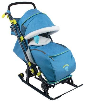 Cанки-коляска Nika Детям 7-3 В джинсовом стиле, синие
