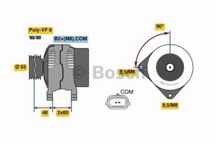 Генератор Bosch 0986080410