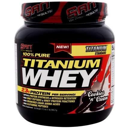Протеин SAN Titanium Whey 100% Pure 2240 г Cookies and Cream