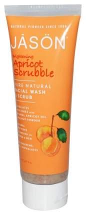 Скраб для лица Jason Brightening Apricot Scrubble Wash & Scrub 113 мл