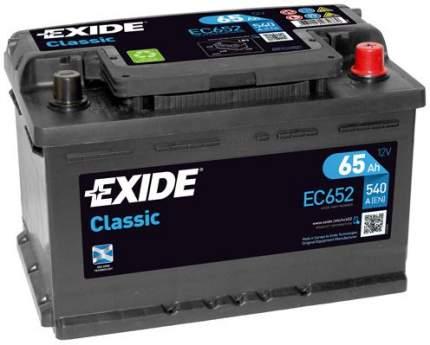 Аккумулятор автомобильный EXIDE EC652 65 Ач