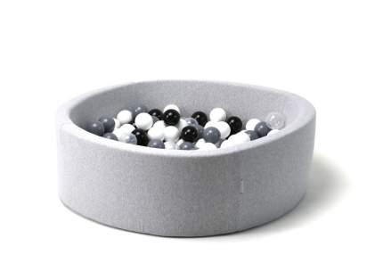 Сухой бассейн Морская пена 33см с 200 шариками: белый, черный, серый, прозрачный