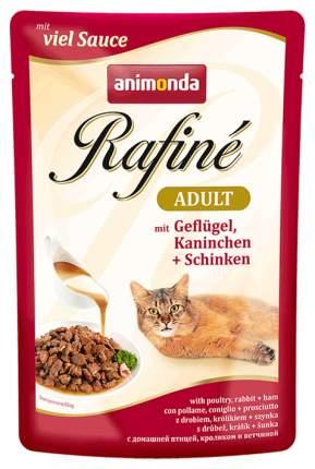 Влажный корм для кошек Animonda Rafine Adult, домашняя птица, кролик, ветчина, 24шт, 100г