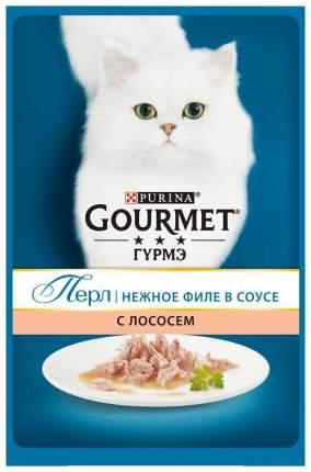 Влажный корм для кошек Gourmet Perle, лосось, 24шт, 85г