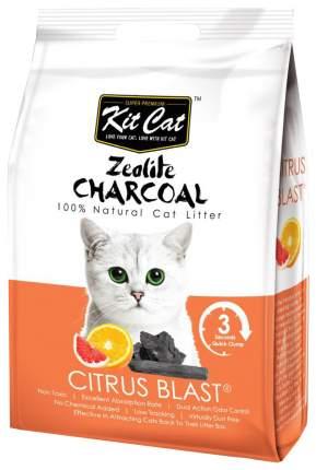 Комкующийся наполнитель туалета для кошек Kit Cat Zeolite Charcoal Citrus Blast 4 кг