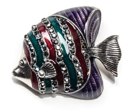 Брошь Moon Paris рыба-дискус со стразами (фиолетовый)