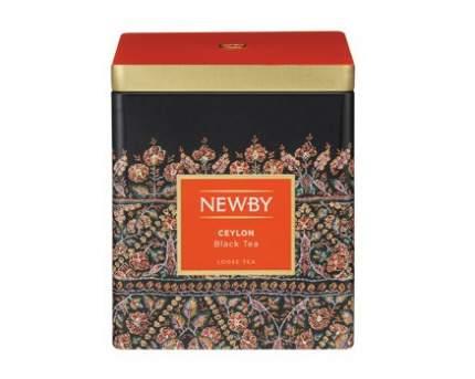 Чай черный Newby цейлон в жестяных банках 125 г