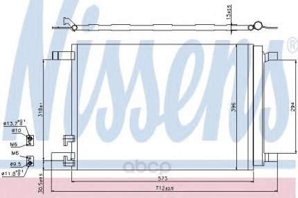 Радиатор кондиционера Nissens 940319