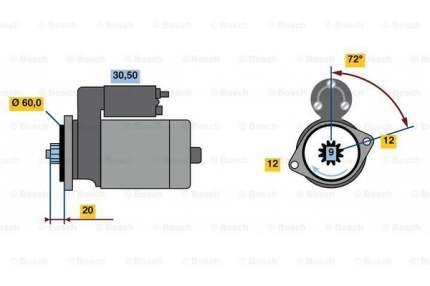 Стартер Bosch 0 986 023 420