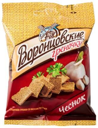Сухарики-гренки Воронцовские ржаные со вкусом чеснока 60 г 2 штуки