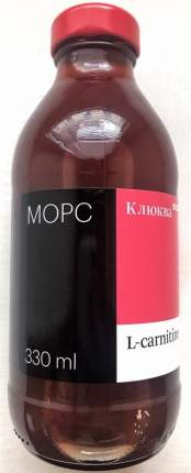 Морc Клюква с L-карнитином 0.33 л