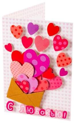 Аппликация Дрофа-Медиа Открытка с сердечками