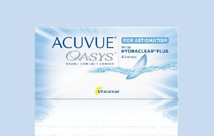 Контактные линзы Acuvue Oasys for Astigmatism with Hydraclear Plus 6 линз 0,00/-1,25/80