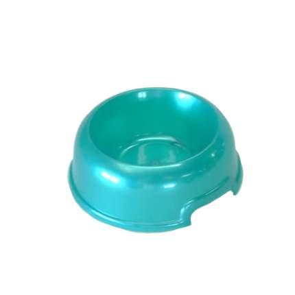 Одинарная миска для кошек и собак HOMEPET, пластик, зеленый, синий, 0.2 л