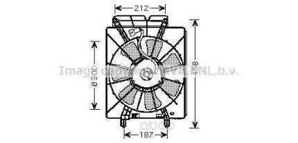 Вентилятор охлаждения двигателя Honda CR-V 02-06 Ava HD7533
