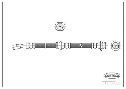 Шланг тормозной CORTECO 19032303
