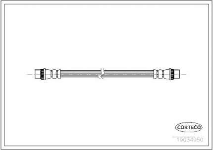 Шланг тормозной CORTECO 19034950