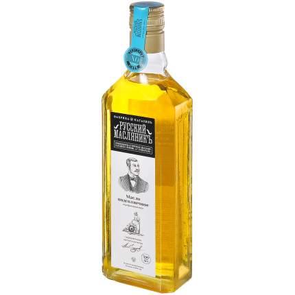 Масло Русский Масляникъ подсолнечное 100% холодный отжим сыродавленное 0.5 л