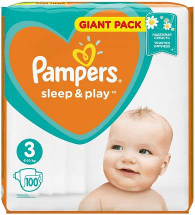 Подгузники Pampers SleepPlay 3 (6-10 кг) 100 шт.