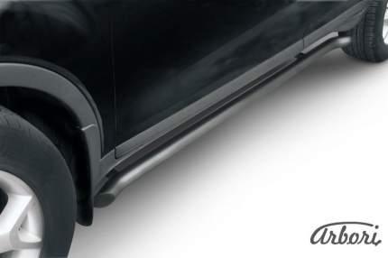 Защита порогов d57 с гибами Arbori черн. для Ford KUGA 2008-2012