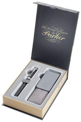 Набор подарочный Parker Ingenuity L - Black Rubber CT, ручка 5й пишущий узел, F + чехол