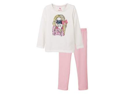 Пижама для девочки Lupilu белый р.98-104
